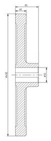 Маховик(штурвал) на двигатель D=450мм, d=55мм 0501.02.00.302 МЛЗ