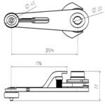 Рычаг привода ДК (Водило цилиндр, проем 800 мм) 0411.03.15.100-03 МЛЗ