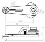 Рычаг привода ДК (Водило цилиндр, проем 650 мм) 0141.03.15.100 МЛЗ
