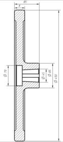 Маховик(штурвал) редуктора D=450мм 348М0200002 МЛЗ